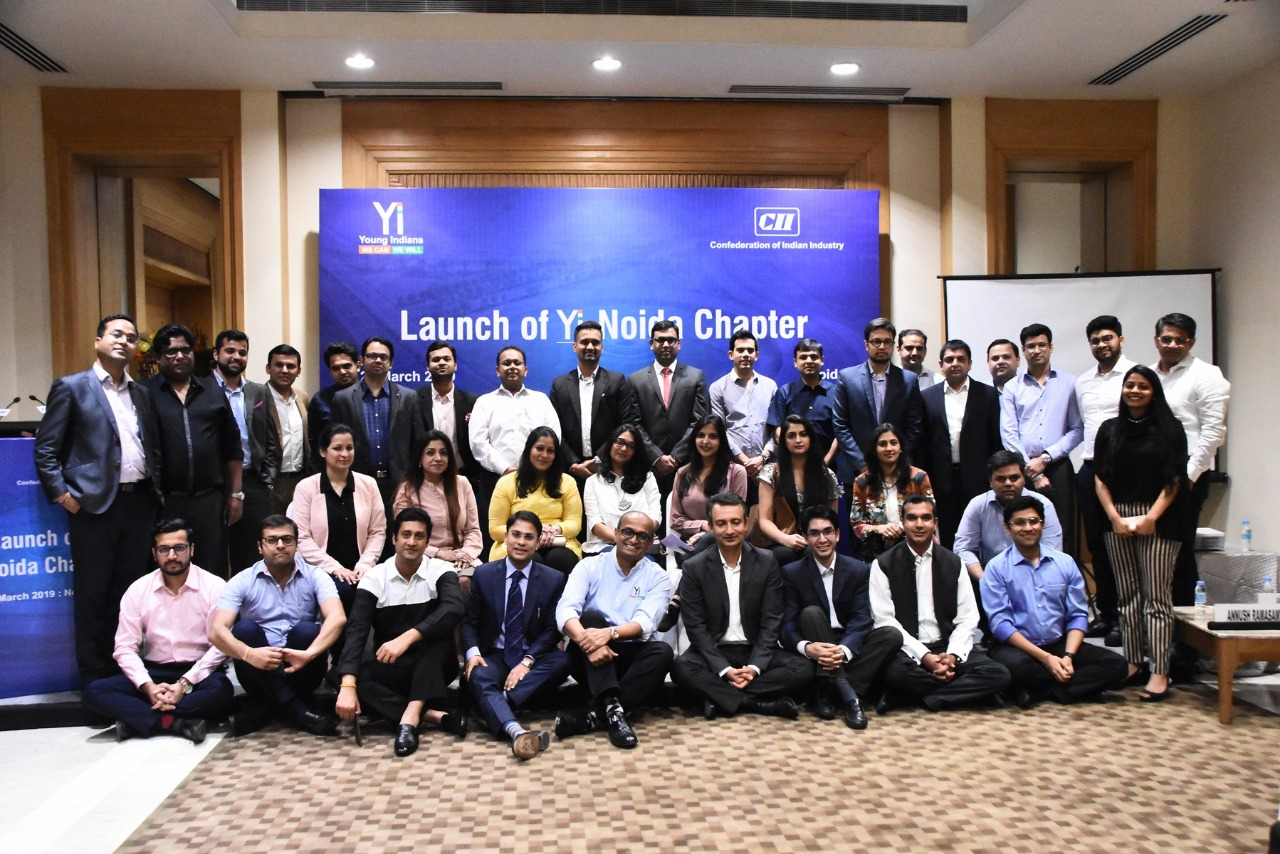 The Grand launch of  CII Young Indians - Noida Chapter on 27th March