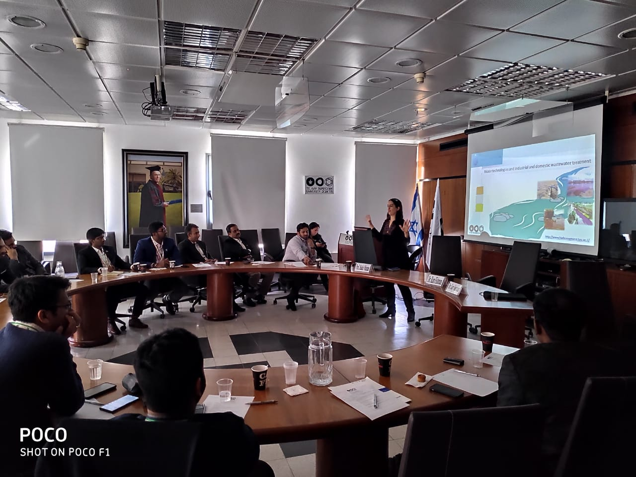 Young Indians Delegation to Israel 2019 -  Interactive session with Prof. Hadas Maman,Head ,The Environmental Engineering Program and the Director of the Mamane WATER-TECH Laboratory