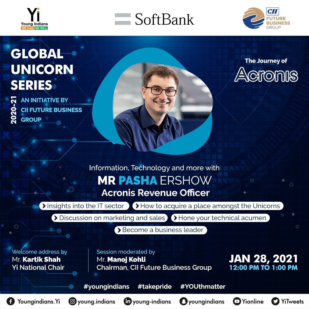 Global Unicorn series -Inspiring journey of Acronis from Mr Pasha Ershow, Revenue officer, Acronis