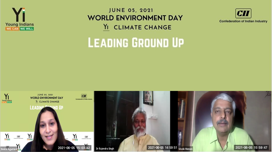 Yi Climate Change -Special Session on World Environment Day, 05 June, 2021 : Digital