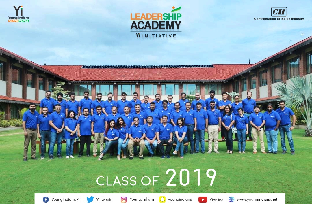 Yi Leadership Academy for Co Chairs-Class of 2019,Vadodara-16-18 Aug 2019