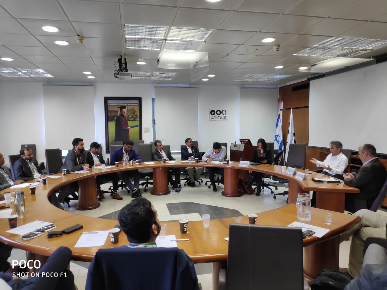 Young Indians Delegation to Israel 201 - Interaction  with Prof.Yaron Oz,Rector and Dr Gary Sussman TAU overview &TAU in India