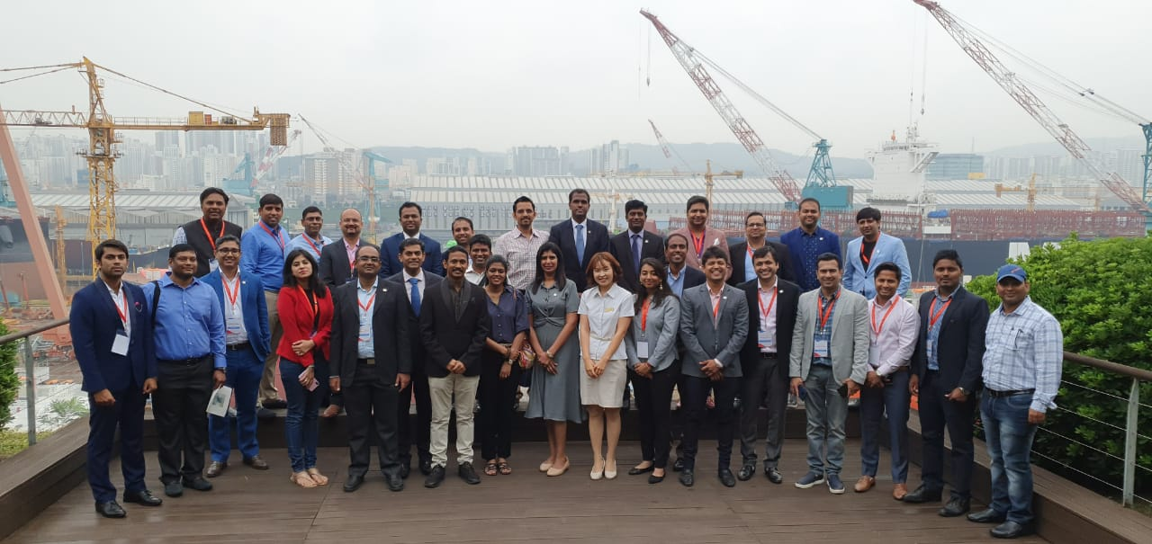 Yi Global Excellence Mission to The Republic of Korea 25-30 August 2019  Visit to Hyundai Heavy Industries,Ulsan