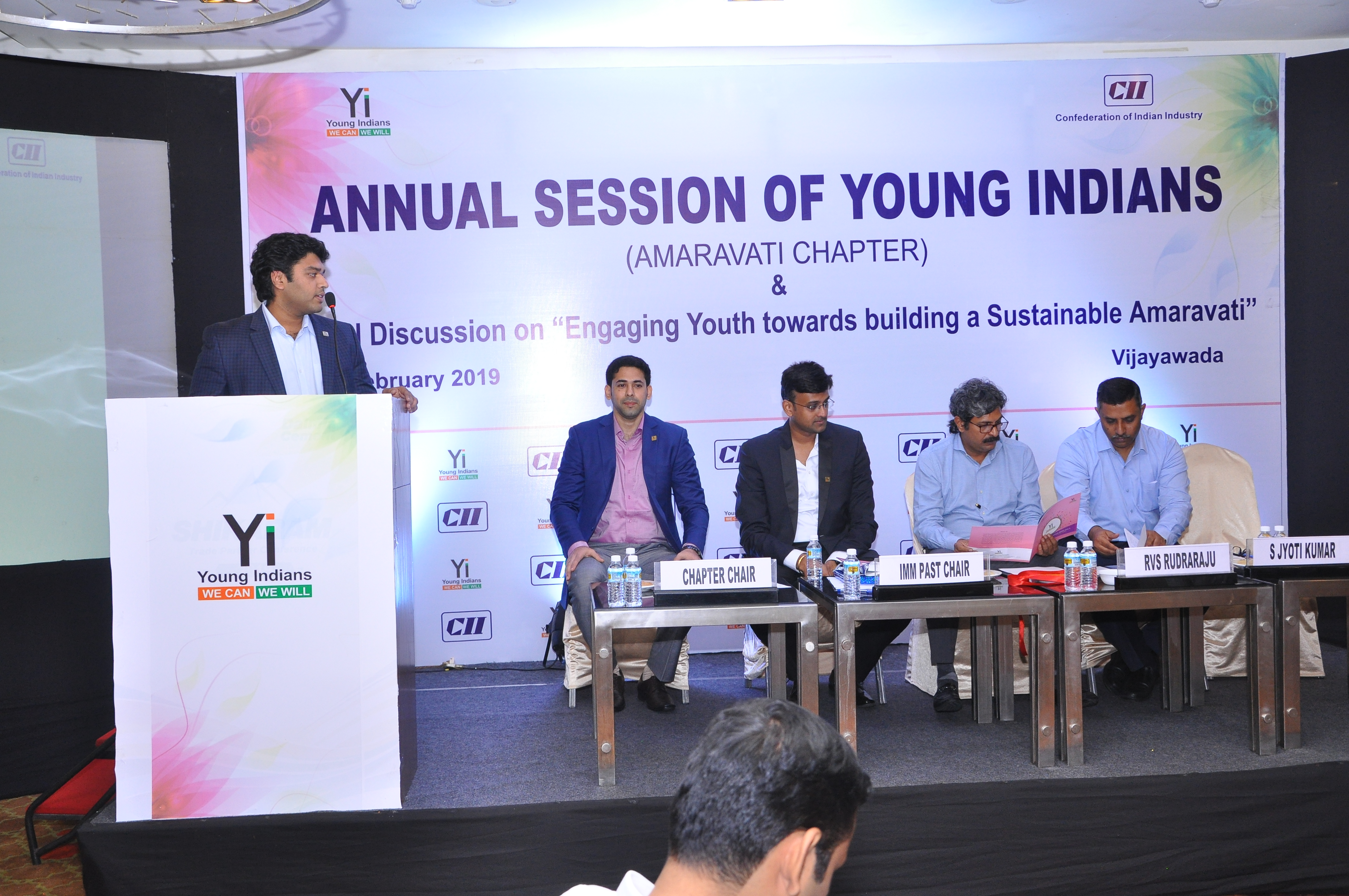 "Yi Amaravati Annual Session of Young Indians - Amaravati Chapter & Panel Discussion on ""Engaging Youth towards building a Sustainable Amaravati"""