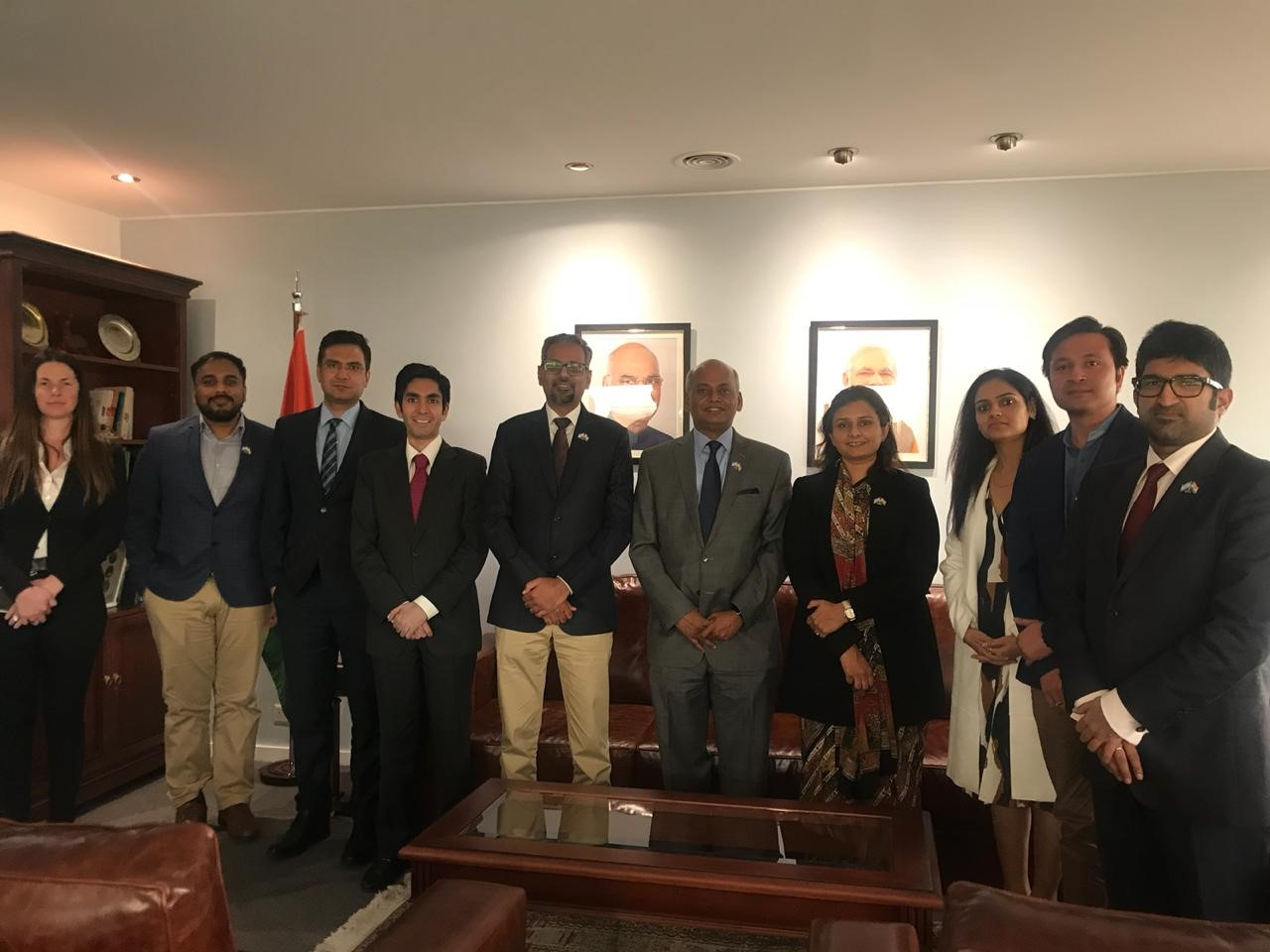 Yi Delegation meeting with H E. Mr Sanjeev Ranjan, Indian Ambassador to Argentina, 19th September  2018, Buenos Aires.