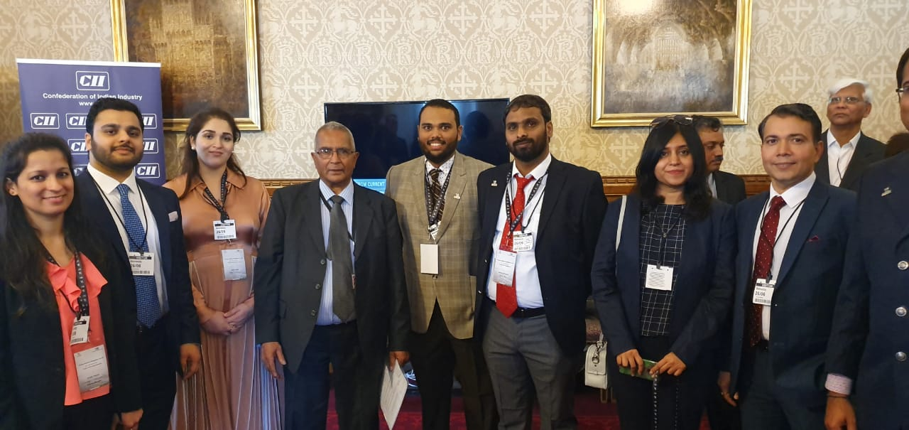 Yi Delegation at London at the Parliamentary Reception on UK-India relations:Celebrating the Living Bridge  Hosted by The Rt Hon Lord Dholakia OBE DL,Deputy Leader,Liberal Democrats