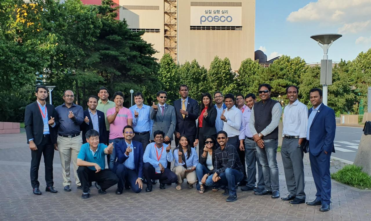 Yi Global Excellence Mission to The Republic of Korea 25 - 30 August 2019  Visit to POSCO plant, Pohan