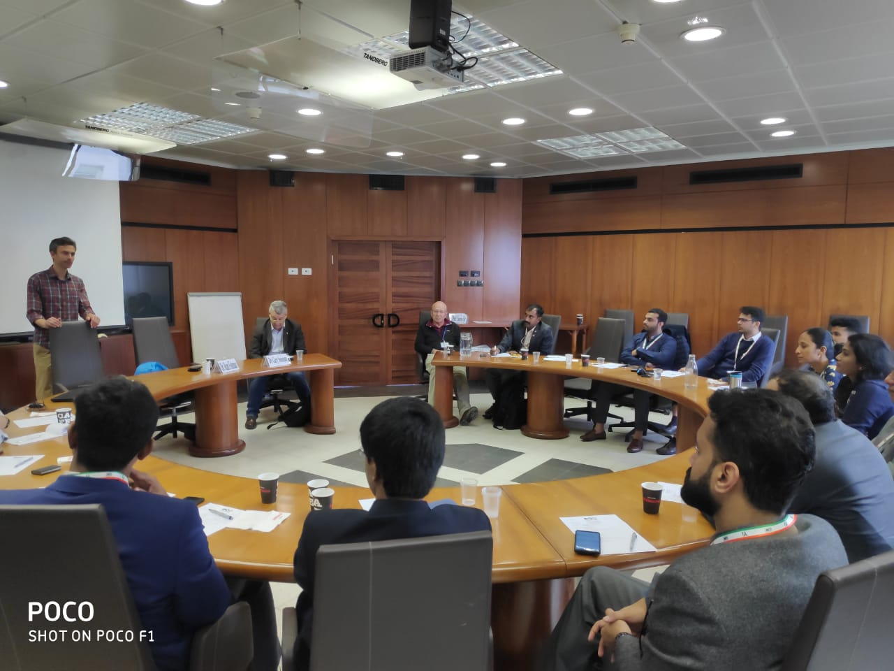 Young Indians Delegation to Israel. Interactive session with Dr Ram Fishman,Director of NTSAN Lab-Tel Aviv university's Sustainable Development Lab,Faculty of Social sciences