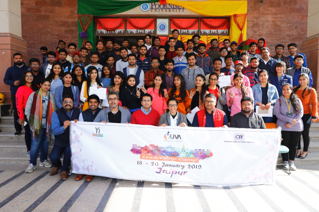 Group Picture: Fifth edition of Yi Yuva Leadership Camp : 18 – 20 January 2019 : Jaipur