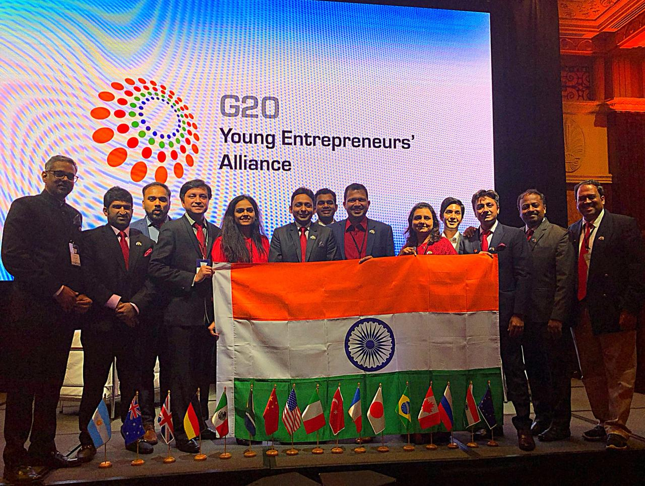 Members of the Yi Delegation to G20 YEA Summit